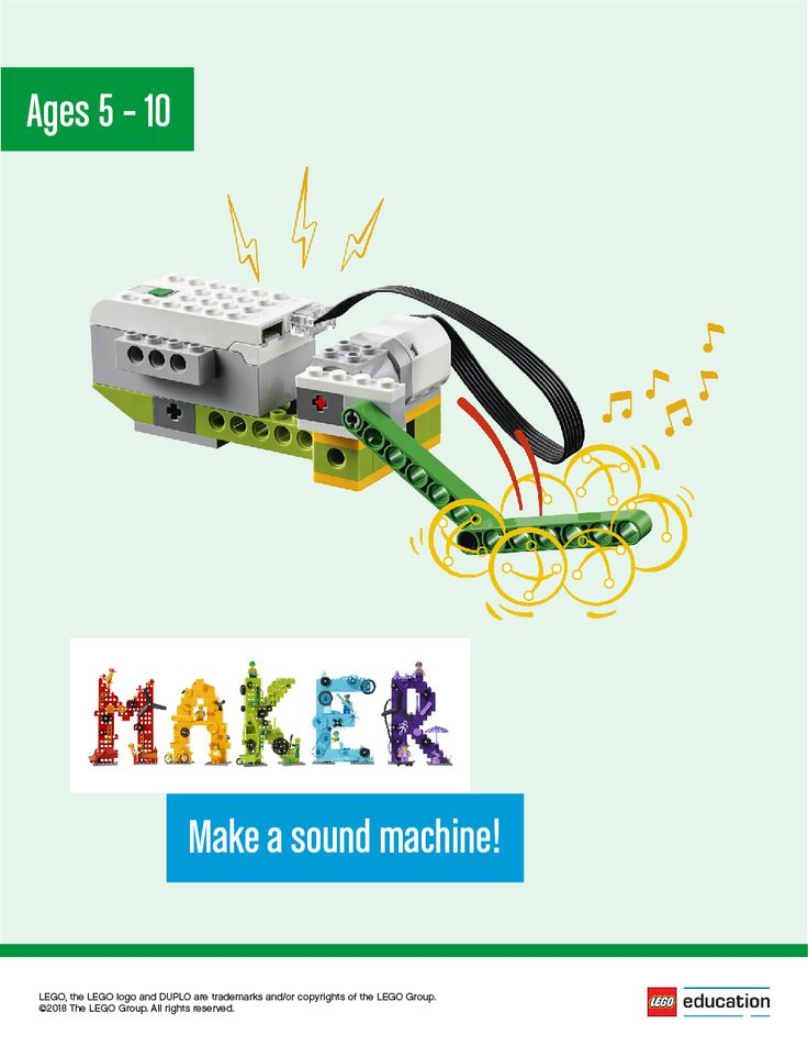 Ask your students to make their very own sound machines as they explore the world of sound. Have them independently brainstorm ways to make one that suits their needs. They can tinker with LEGO® bricks or sketch out possible ideas. Each group will then make their sound machine, testing and analyzing their idea as they go, making improvements where necessary. Once the sound machines are complete, have your students share what they made.