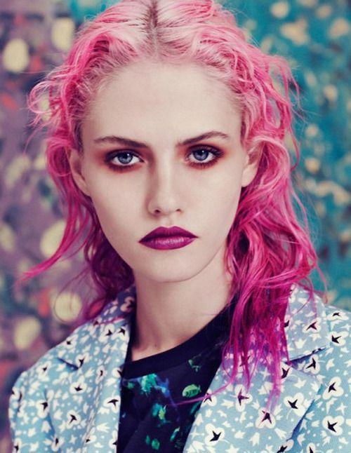 grafika model, charlotte free, and pink