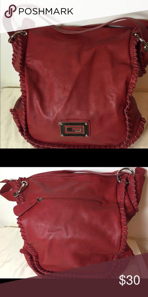 Red leather shoulder-bag Red Shoulder bag in like new condition Bags Shoulder Bags