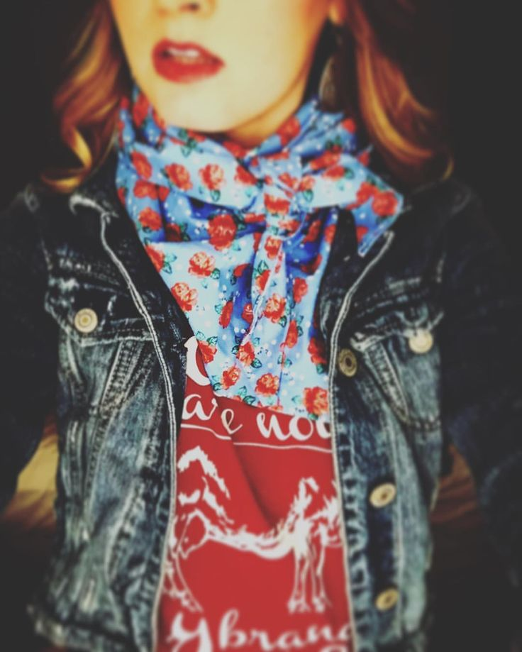 """""""You are not my brand of wild cattle"""" T-shirt + silk wild rag scarf"""