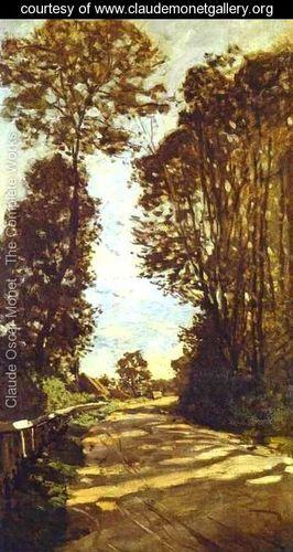 Road To The Saint Simeon Farm - Claude Oscar Monet - www.claudemonetgallery.org