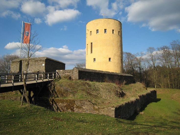 Ruins of Ginsburg castle in the Siegerland, an old fort of the counts of Nassau at the frontier of their country. It was here that William of Orange, called the Silent, made final preparations for his fight against the Spanish, for the liberation of the Netherlands.