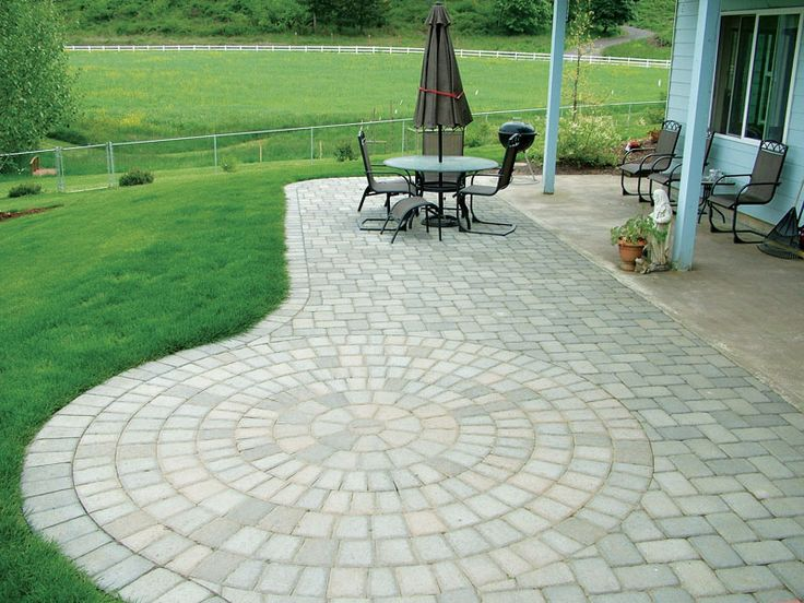 Paver Designs For Backyard Painting Amusing Inspiration