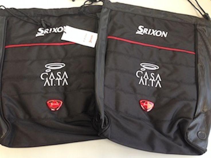 Portazapatos Srixon personalizados logo bordado. Torneo golf Casa Alta Restaurante Sevilla
