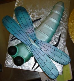 dragonfly cake for Mommy-Daughter Cake Decorating event
