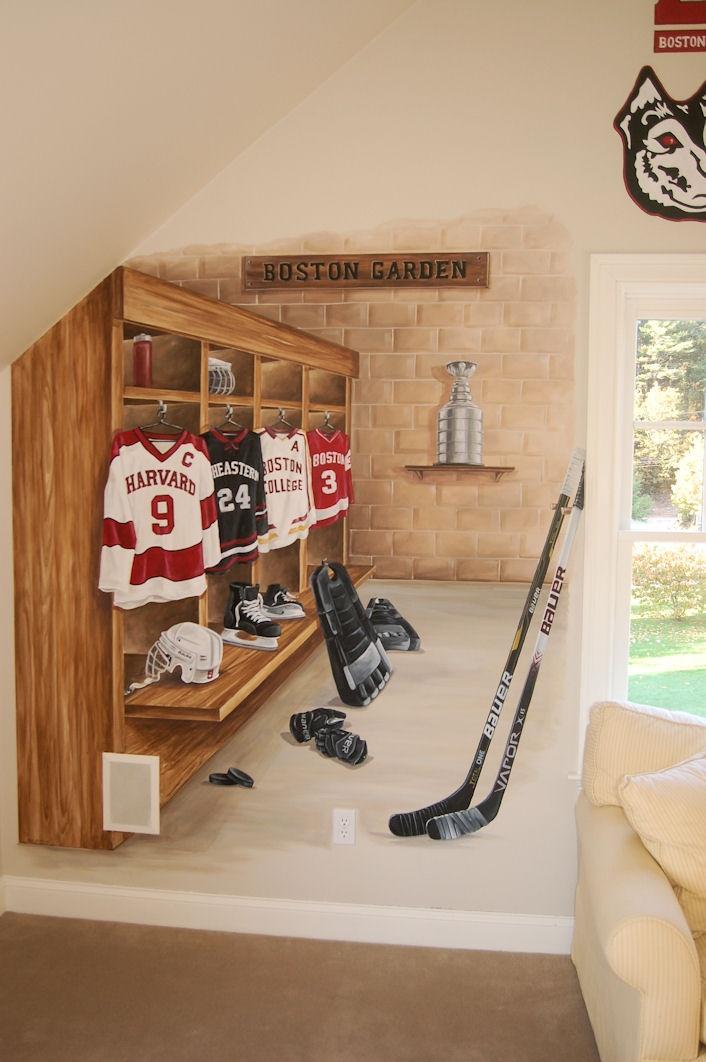 Bedroom Ideas Hockey 38 best hockey room ideas images on pinterest | hockey bedroom