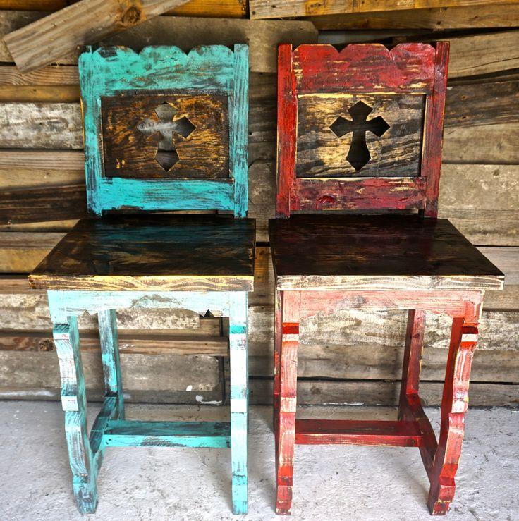 Cross Bar Stools - Sofia's Rustic Furniture
