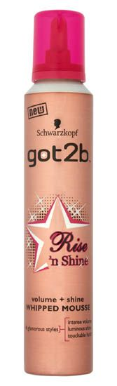 Schwarzkopf got2b Rise n Shine Whipped Mousse Schwarzkopf got2b Rise n Shine Whipped Mousse 200ml: Express Chemist offer fast delivery and friendly, reliable service. Buy Schwarzkopf got2b Rise n Shine Whipped Mousse 200ml online from Express Che http://www.MightGet.com/january-2017-11/schwarzkopf-got2b-rise-n-shine-whipped-mousse.asp