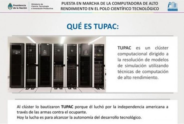 Comenzó a funcionar TUPAC, la supercomputadora para modelos de simulación #ARG