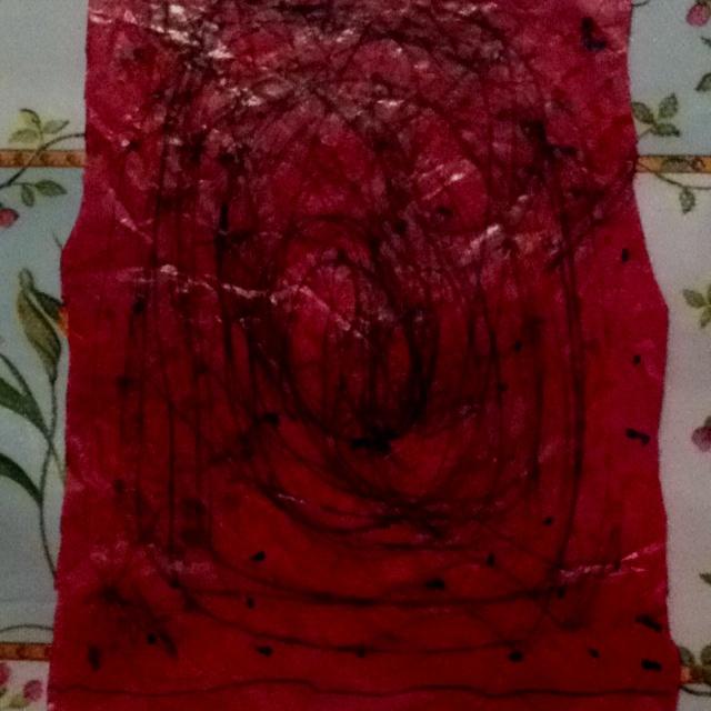 Gigi inspirada por Jackson Pollock!