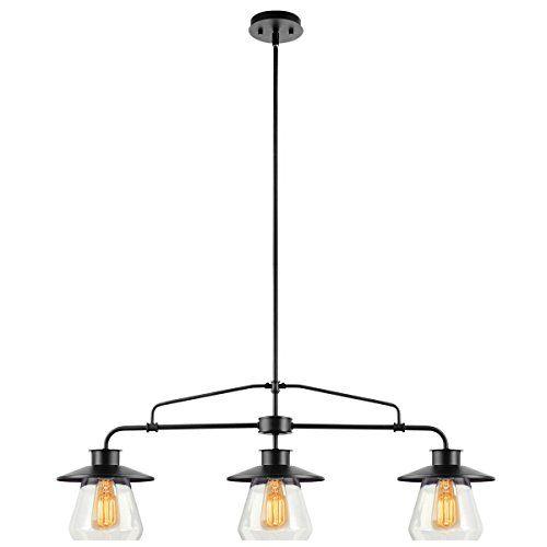 globe electric 3 light vintage hanging island pendant light fixture oil rubbed bronze finish