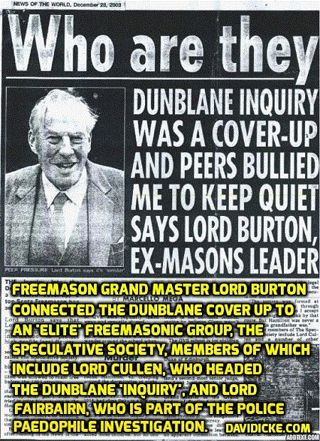 Some background to paedophile-infested Dunblane mass murder of children: