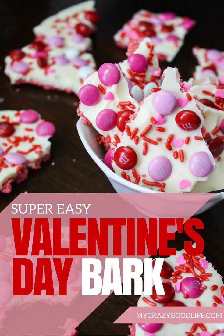 Valentine table decorations pinterest - Easy Valentines Day Bark My Crazy Good Life