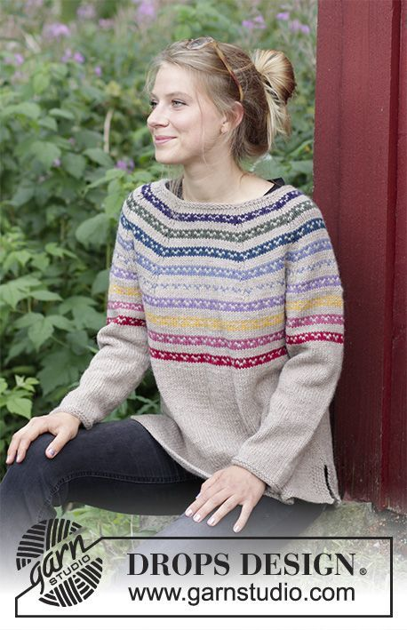 bb3429e40f9a Rainbow Hugs - Knitted jumper with round yoke
