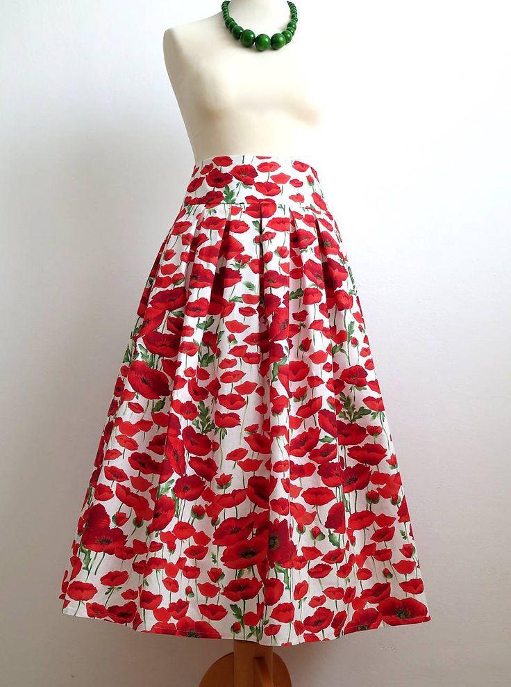 Sukne - sukňa vlčie maky  - 7153903_
