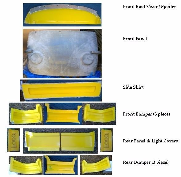 SET OF MOULDS FOR SALE Subaru Sambar (Samber / Domingo / Libero / minivan) VW Bodykit Moulds Co