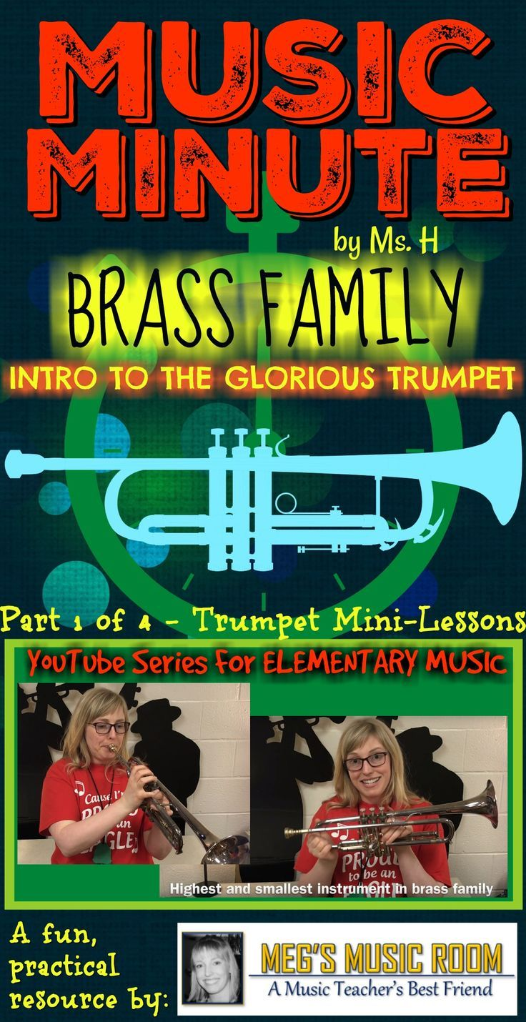 Show this to your elementary music kids as a fast and easy intro to the trumpet. Great for your orchestra unit and as a bell ringer (class starter)! #elementarymusic #musicteacher #orchestra #band #trumpet #musiceducation #musiced