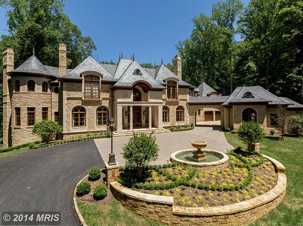A $12.9 Million Chateau in McLean | Washingtonian #luxuryhomes