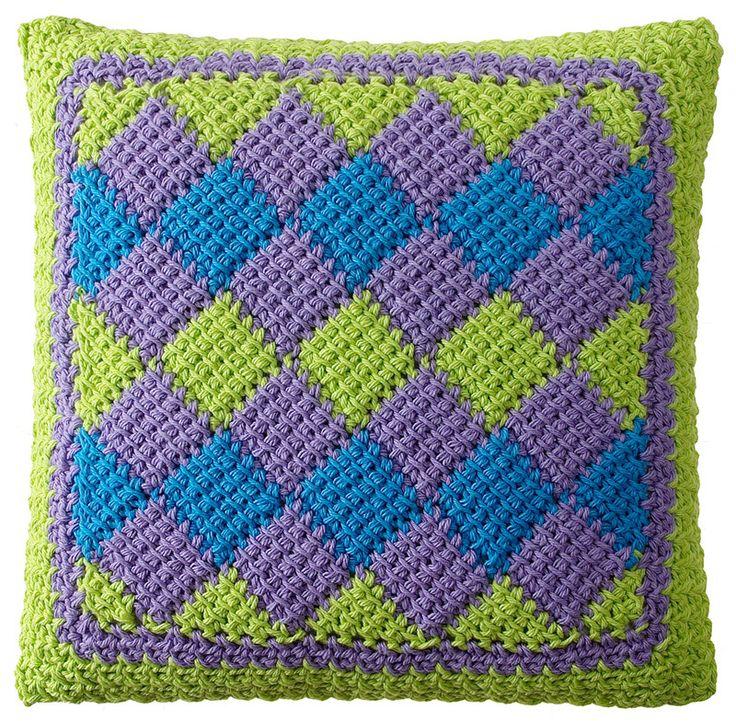 34 best Entrelac Crochet images on Pinterest | Tunisian crochet ...