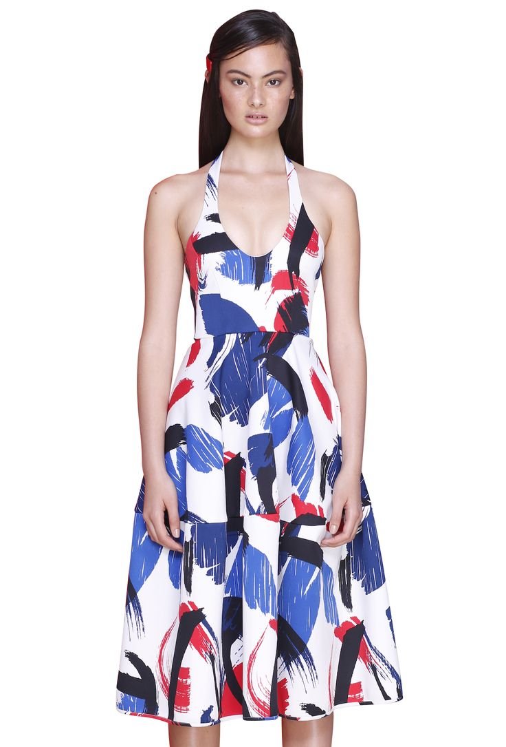 MONDARIN TIE DRESS  #byjohnny #abstrACTION #SPRING2015 #AUSTRALIANFASHION