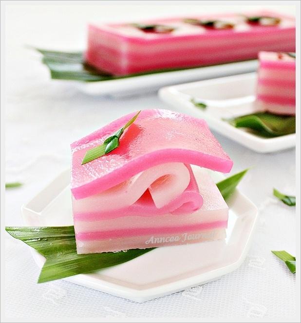 Kuih Lapis (Steamed Layer Cake)