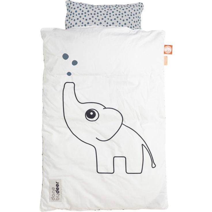 Parure de lit bébé Dots bleu - Done by deer