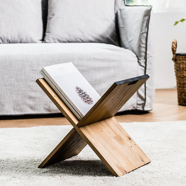 Londoner Kinfolk Industrial Book & Magazine Rack. Can have a pretty 'tabletop' to place on top when needed? :)