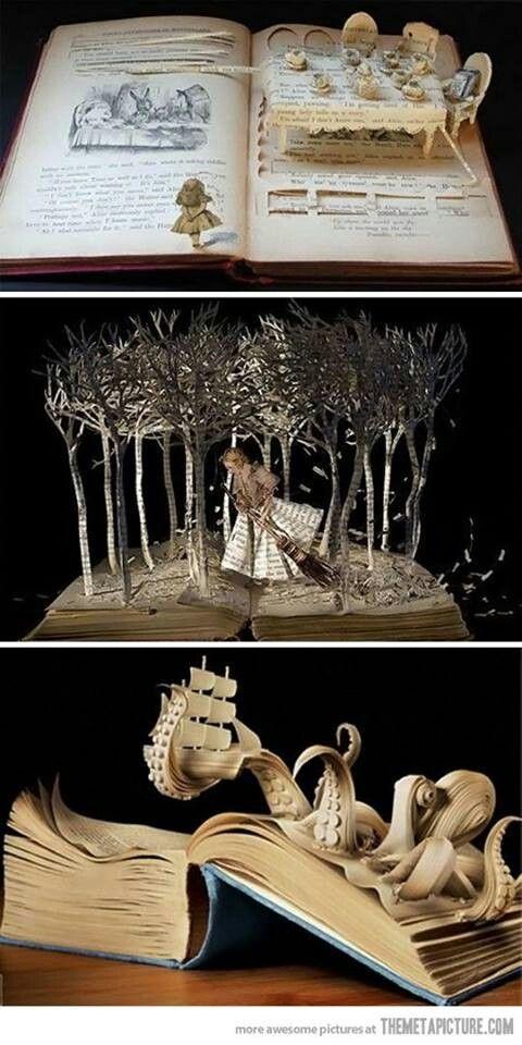 Amazing Book Art #Literature #Books