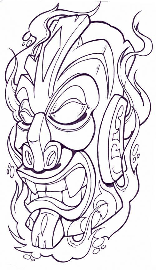 Resultado de imagem para tiki heads pinstriped
