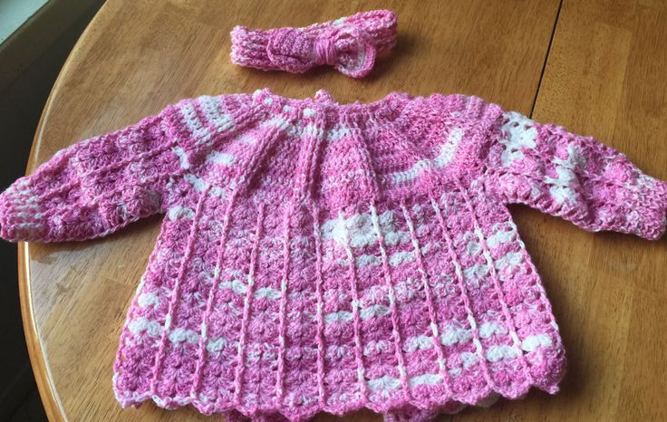 A personal favourite from my Etsy shop https://www.etsy.com/ca/listing/501511056/handmade-baby-sweater-with-headband