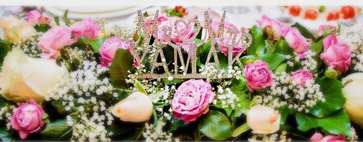 Esküvői kristály dekoráció - Wedding rhinestone flower decoration