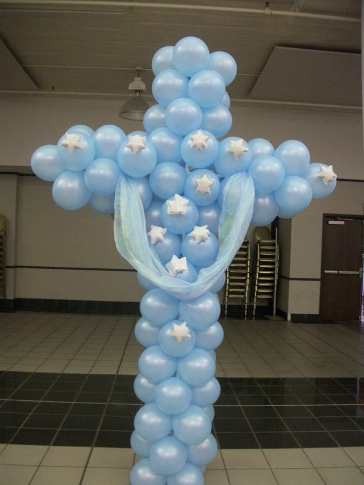 Certified balloon decor 39 planner h h creations by for Baby boy baptism decoration ideas