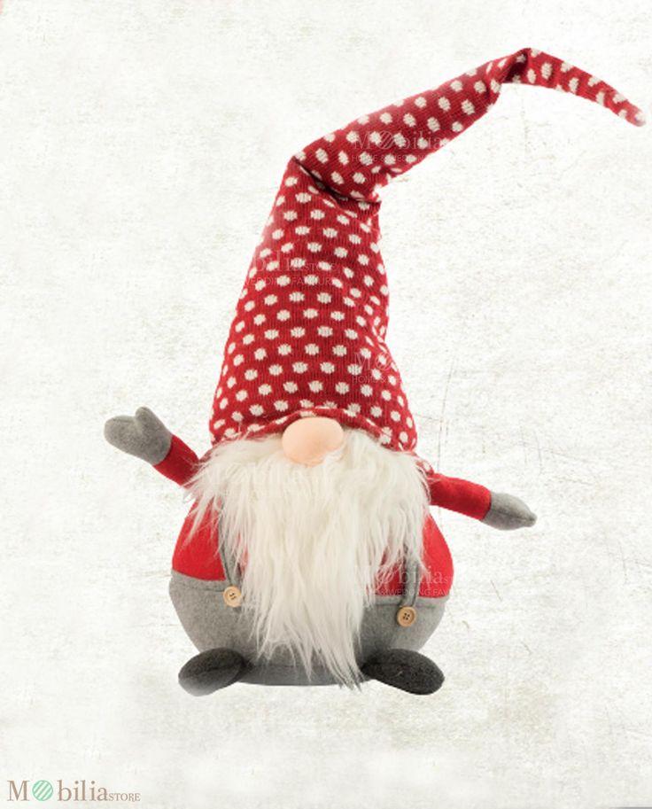 Gnomi Grabdi, ideali come originale regalo di Natale, come accessorio decorativo da mettere nella cameretta dei tuoi bambini o vicino l'albero di natale, donando all'ambiente un tocco di allegria e originalità.Novità su Mobilia Store.