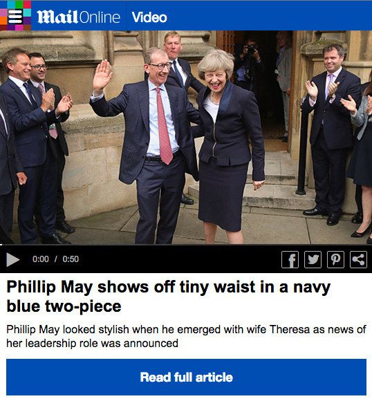 They would be really keen to point out when he shows off his waist. | If The Media Wrote About Theresa May's Husband The Way They Write About Samantha Cameron