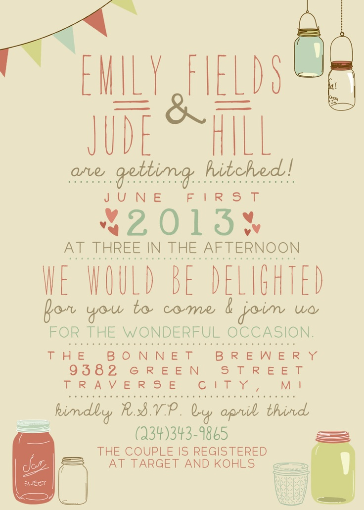 Wedding Invitation - Printable, Custom - DIY Wedding - Vintage. $14.00, via Etsy.