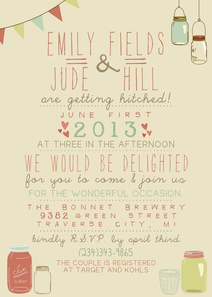 Wedding Invitation - Printable, Custom - DIY Wedding - Vintage. $14.00, via Etsy.