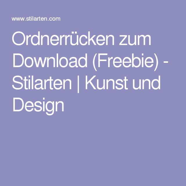 ordnerr cken zum download freebie stilarten kunst. Black Bedroom Furniture Sets. Home Design Ideas