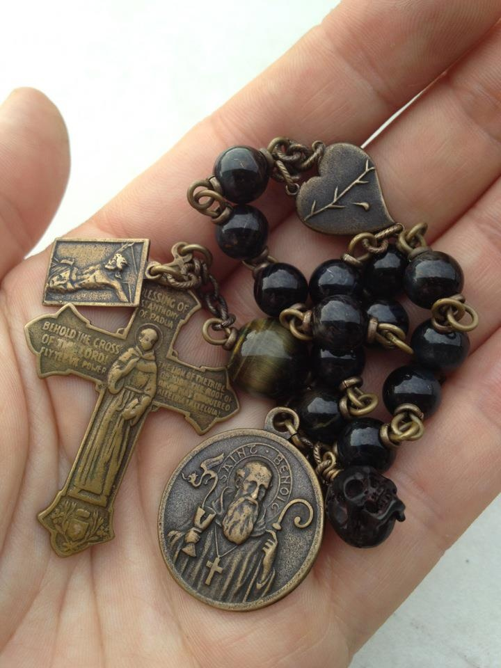 Handmade rosaries, decades, & chaplets (gorg). I remember making rosaries in school!