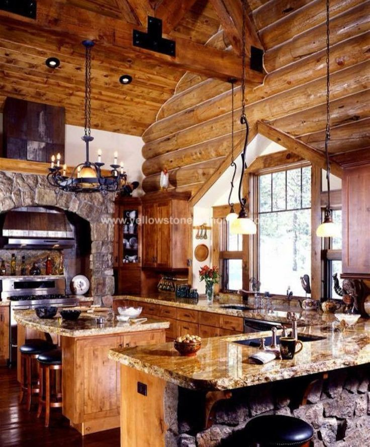 Luxury Home Kitchens: Pin By Colby Johnson On Luxury Log Cabin