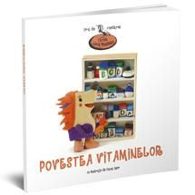 """Povestea vitaminelor-Lucia Muntean, Varsta:2-4 ani; povestea il surprinde pe Țepișor, fiul doctorului Arici, încercând să găsească răspunsul la întrebarea: """"A, B, C, D și E sunt litere sau vitamine?"""". Povestite în versuri, aventurile lui Țepișor și ale colegilor săi de clasă îi introduc pentru prima dată pe micii noștri cititori în lumea jucăriilor încântătoare imaginate de Oana Ispir care par gata-gata să sară din pagină și să se joace cu ei."""