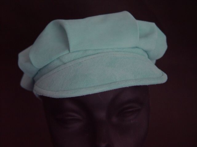 Suede Leather Hat shown in Ice Blue