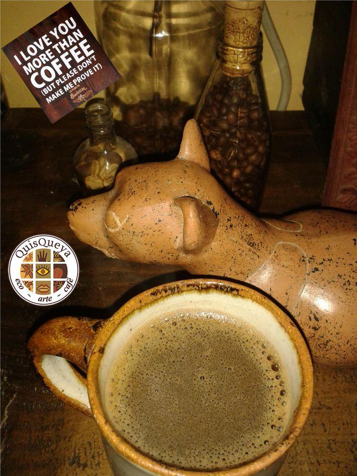 Desde hoy jueves a partir de las 9 de la noche en QuisQueya eco-arte-café puedes demostrar el amor a un buen café; claro, café La FLOR de Suchitlán. ¡Nos encanta!
