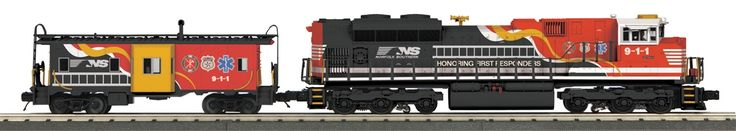 "MTH Rail King O 30-20361-1 SD70ACe Imperial Diesel and Caboose Set, Norfolk Southern ""First Responders"" (Proto Sound 3) 