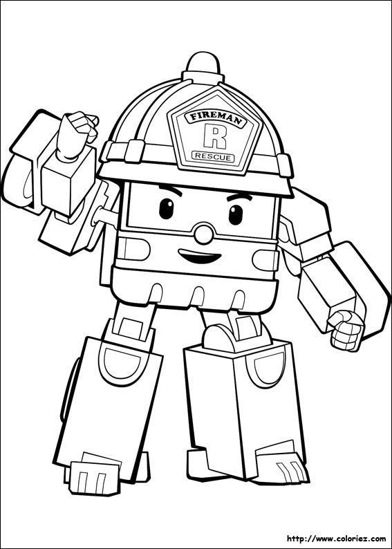 Coloriage De Robocar Poli With Images Coloring Pictures For