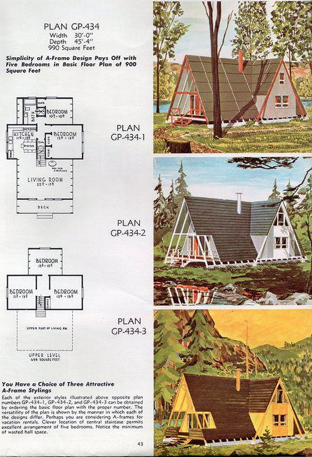 Vintage A-frame plans