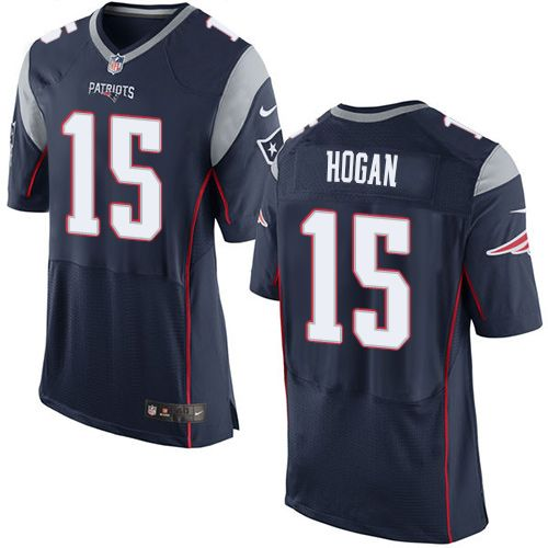 Men's Nike New England Patriots #15 Chris Hogan Elite Navy Blue Team Color NFL Jersey
