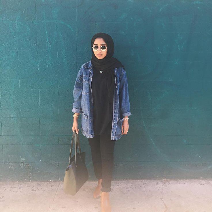 """553 Likes, 19 Comments - مريم (@maryam.kayy) on Instagram: """"My trusty denim jacket ✊"""""""