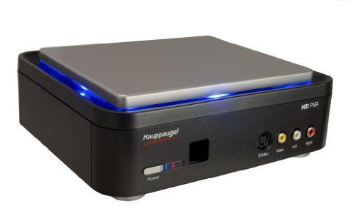 High-definition personal video recorder records directly from cable TV and satellite set top boxes at up to 1080i * Records in AVCHD format for burning Blu-ray DVD discs * Includes Hauppage's WinTV scheduler to schedule TV recordings, and built-in IR blaster to automatically change TV channels * Standard definition composite and S-Video inputs lets you digitize your old home video tapes directly from VCR * (Placed within the Amazon Associates program) * 00:29 Mar 19 2017