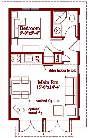 235 best images about from a shed to a home on pinterest for Tiny house on foundation plans