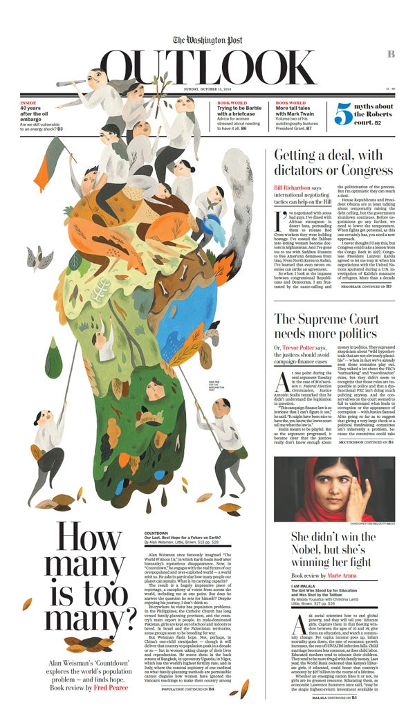 Inca Pan's illustration for The Washington Post's Sunday Opinion section